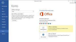 Ist Office 2013 aktiviert oder nicht?