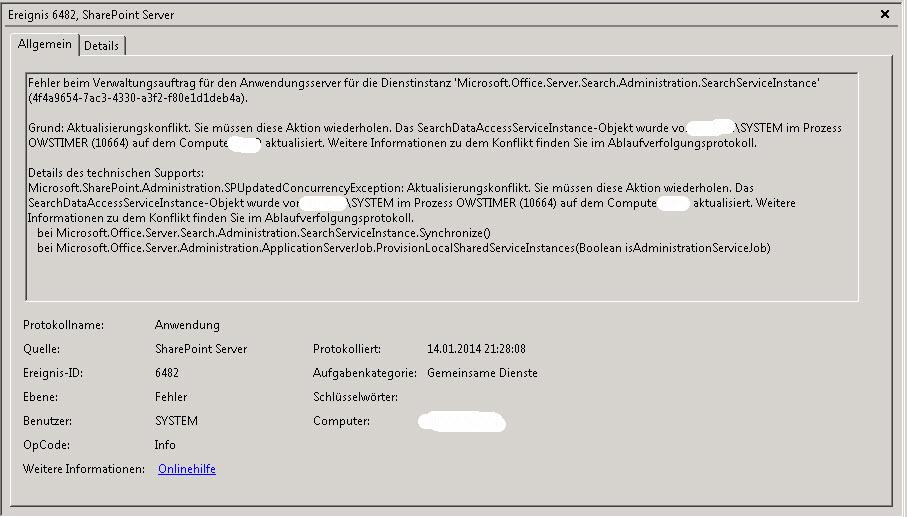 Sharepoint2010EventID6482