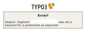 Typo3 Error