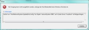 VMware ESX DNS Aktualisierung Fehler
