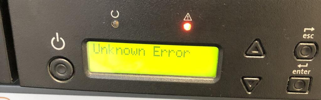 Fehlermeldung Unkown Error beim Quantum Super Loader 3