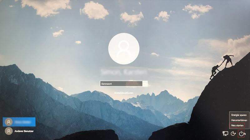Windows Anmeldebildschirm