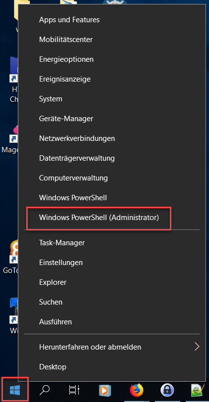 Windows Powershell öffnen